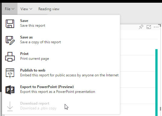 Download report from Power BI Service is not available for reports created in Power BI Service