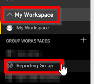 Open Power BI Service Workspace