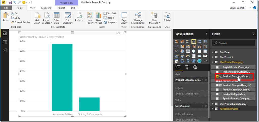 Use Groups in Power BI Desktop