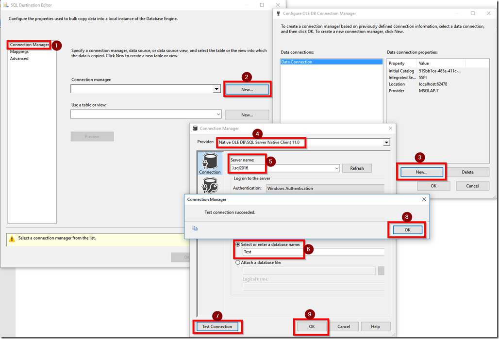 Creating SSIS Connection Manager