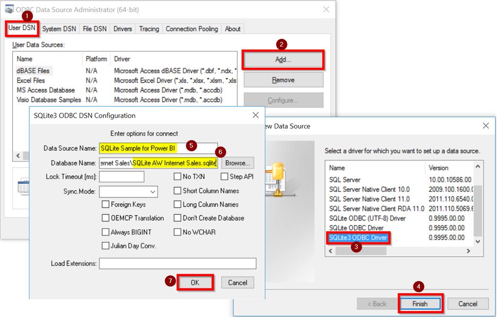 Visualise SQLite Data in Power BI