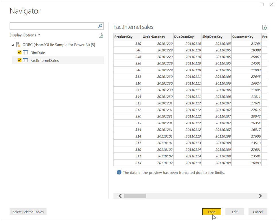 Visualise SQLite Data in Power BI
