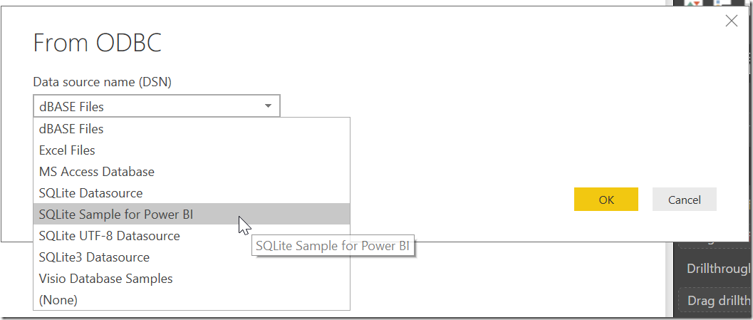 Load Data From ODBC DSN to Power BI