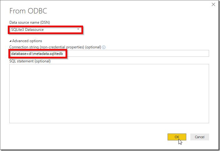 Power BI and SQLite