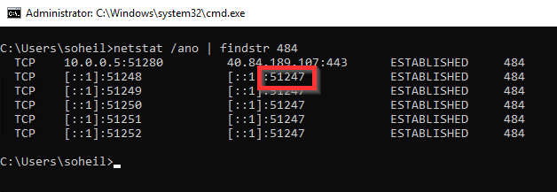 Use CMD to get Power BI Desktop Port Number