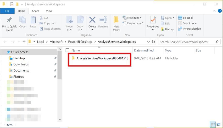 Power BI Desktop Download Edition Temporary Folder