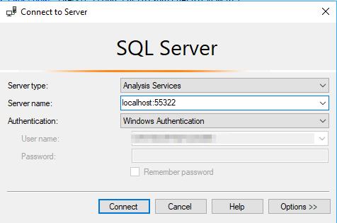 Connect to Power BI Desktop Model from SSMS