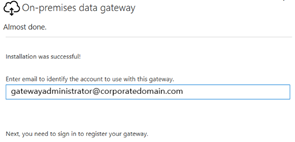 On-premises Data Gateway Owner