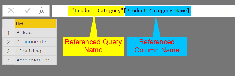 Referencing a Column from Another Query in Power Query