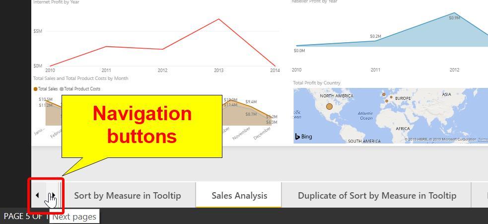 Navigating between Report Pages in Power BI