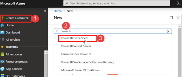 Power BI Embedded in Azure Portal
