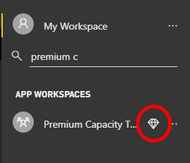 Premium Workspace in Power BI Service