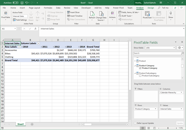 Browsing to Power BI Premium from Excel with XMLA endpoint