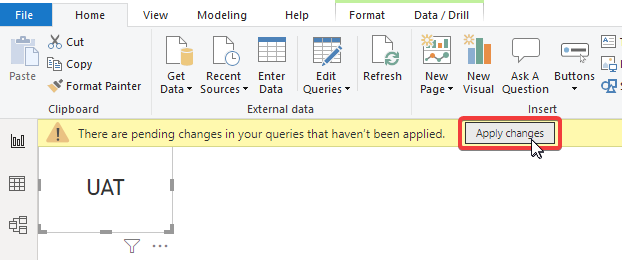Applying changes when editing query parameter value in Power BI Desktop