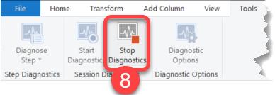 Stop Diagnostics in Power BI